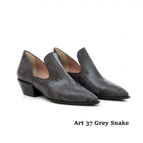 Women Shoes Art 37 Grey Snake