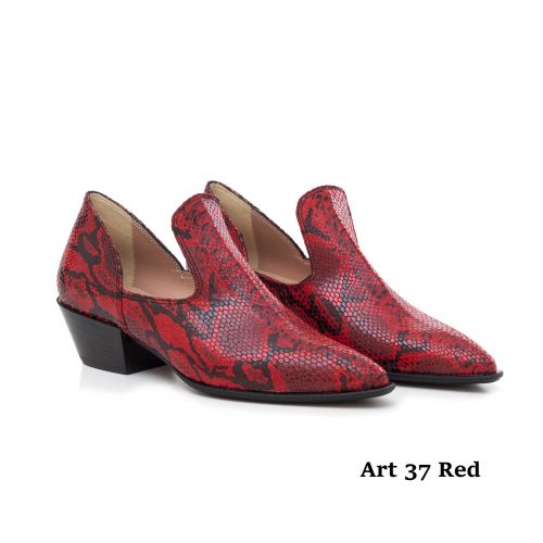 Women Shoes Art 37 Red Snake