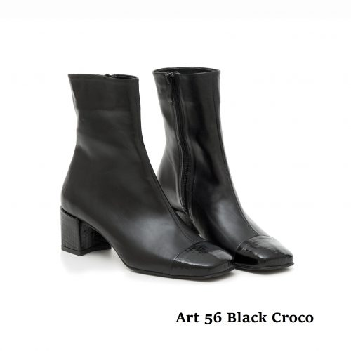 Women Shoes Art 56 Black Croco
