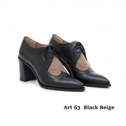 Women Shoes Art 63 Black Beige