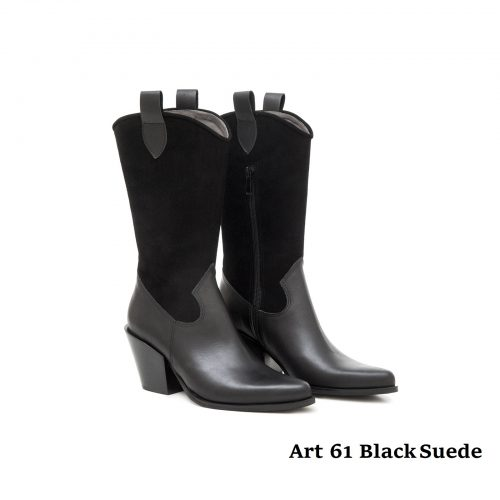 Women Shoes Art 61 Black Suede
