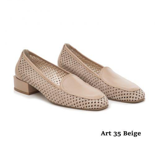 Women Shoes Art 35 Beige