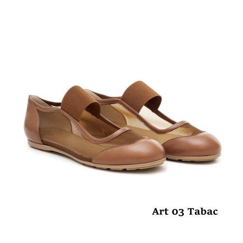 Women Shoes Art 03 Tabac