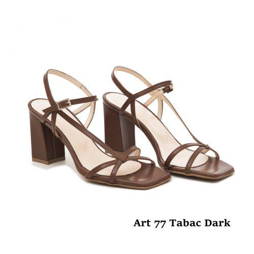 Women Shoes Art 77 Tabac Dark