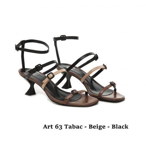 Women shoes Art 63 Tabac Beige Black