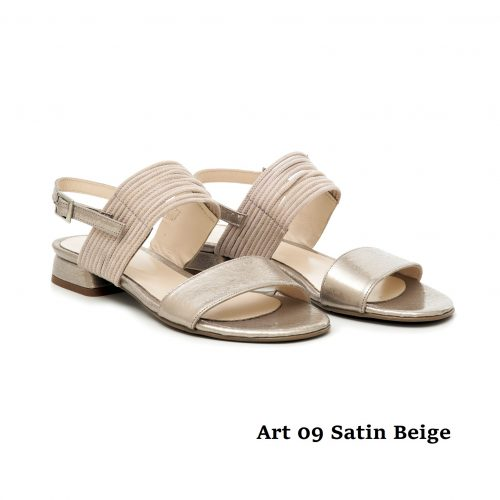 Women shoes Art 09 Satin Beige