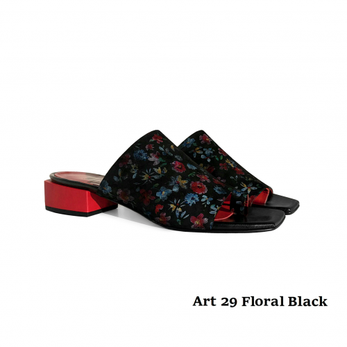 Women shoes Art 29 Floral Black