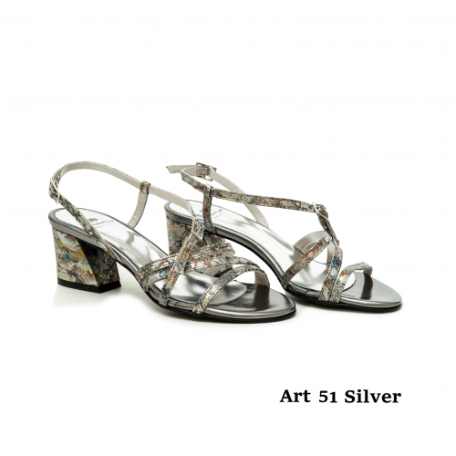Women shoes Art 51 Silver