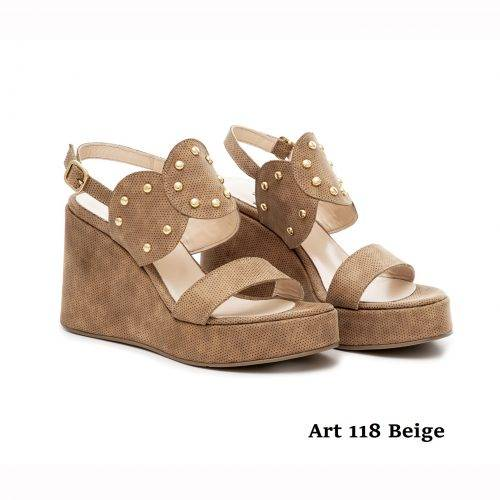 Women Shoes Art 118 Beige