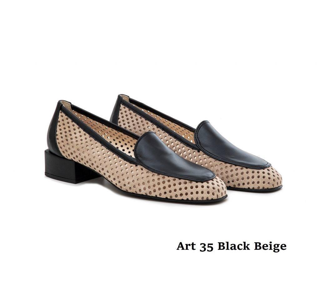 Women Shoes 35 Black Beige