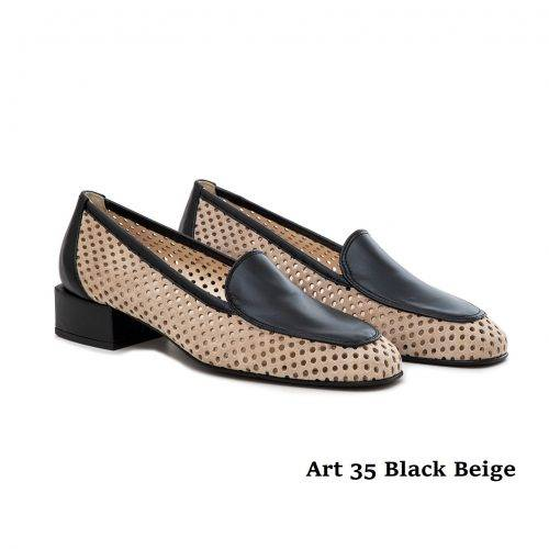 Women Shoes 35 Black Beige