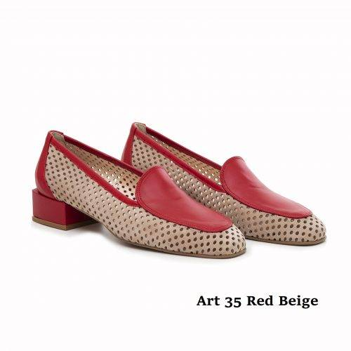 Women Shoes Art 35 Red Beige