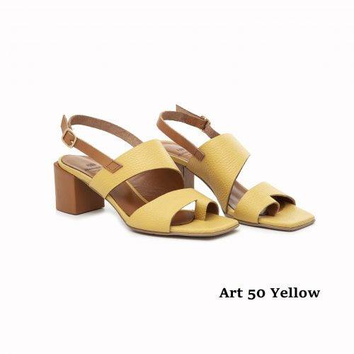 Women Shoes Art 50 Yellow