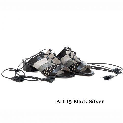 Women Shoes Art 15 Black Silver