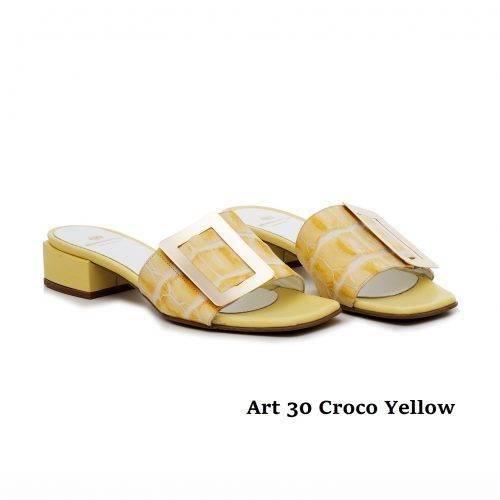Women Shoes Art 30  Croco Yellow