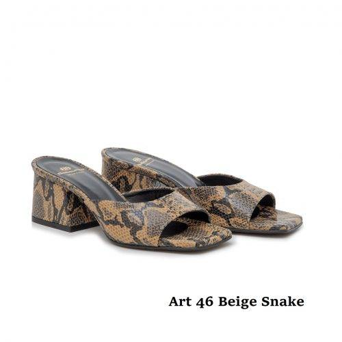 Women Shoes Art 46 Beige Snake