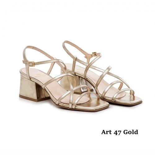 Women Shoes Art 47 Gold