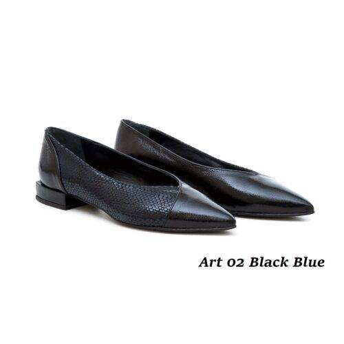 Women Shoes Art 02 Black Blue
