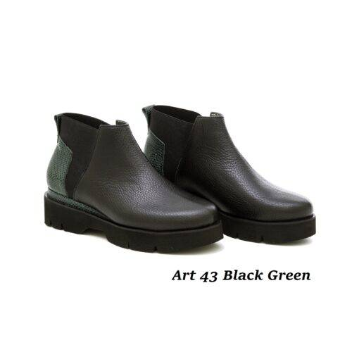Women Shoes Art 43 Black Green