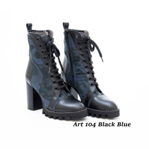Women Shoes Art 104 Black & Blue