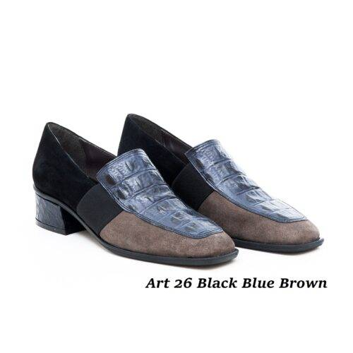 Women Shoes Art 26 Black Blue Brown