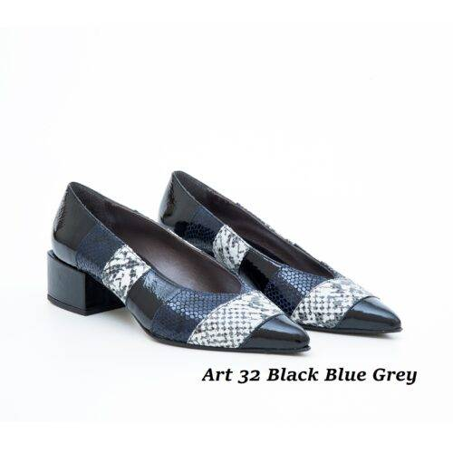 Women Shoes Art 32 Black Blue Grey
