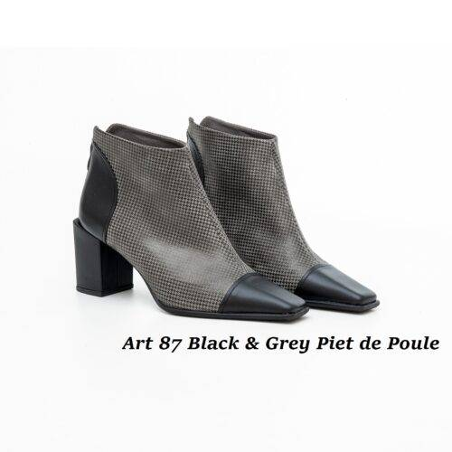 Women Shoes Art 87 Black & Grey Piet de Poule