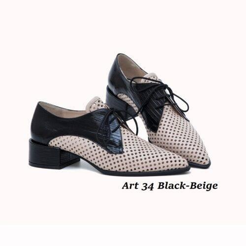 Women Shoes Art 34 Black-Beige