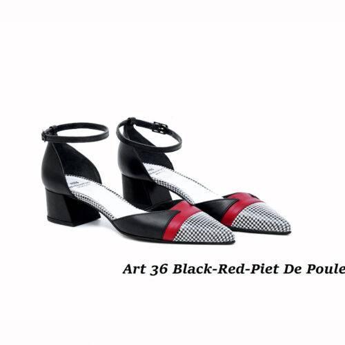 Women Shoes Art 36 Black-Red-Piet De Poule