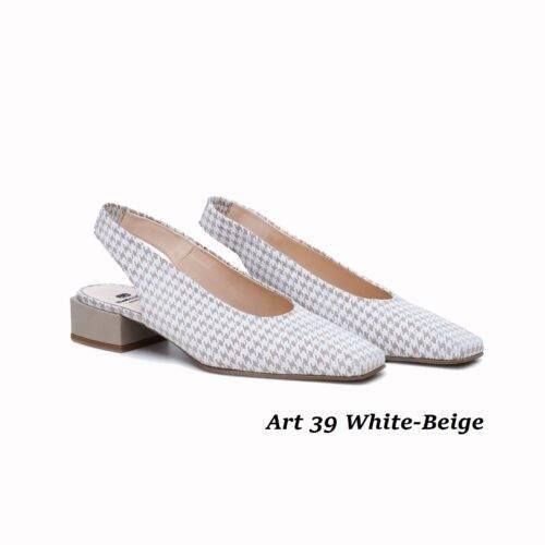 Women Shoes Art 39 White-Beige