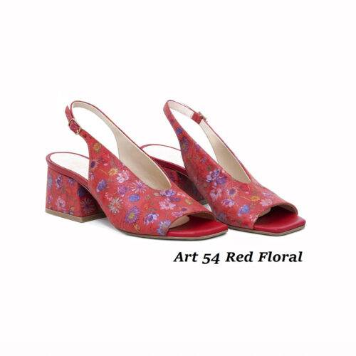 Women Shoes Art 54 Red Floral