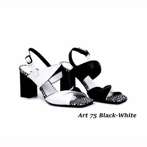 Women Shoes Art 75 Black-White