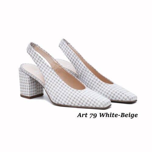 Women Shoes Art 79 White-Beige