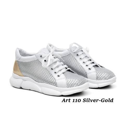 Women Shoes Art 110 Silver-Gold