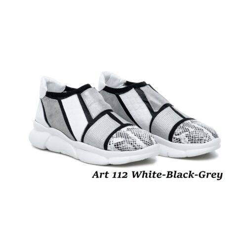 Women Shoes Art 112 White- Black-Grey