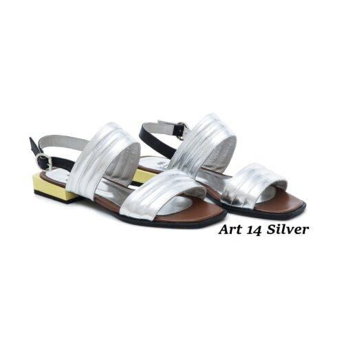 Women Shoes Art 14 Silver