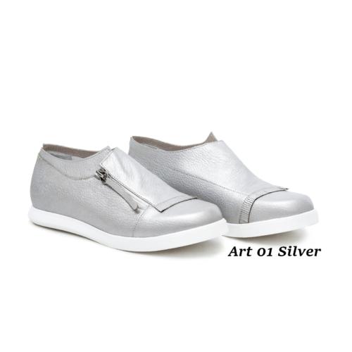 Women Shoes Art 01 Silver
