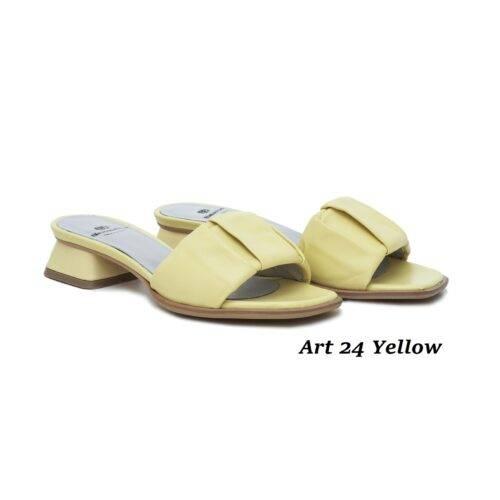 Women Shoes Art 24 Yellow