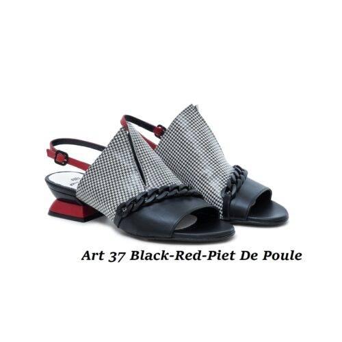 Women Shoes Art 37 Black-Red-Piet De Poule