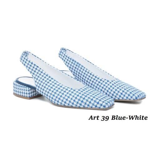 Women Shoes Art 39 Blue-White
