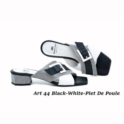 Women Shoes Art 44 Black-White-Piet De Poule
