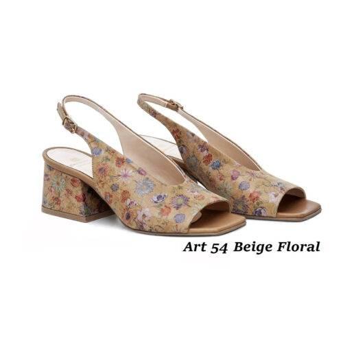 Women Shoes Art 54 Beige Floral