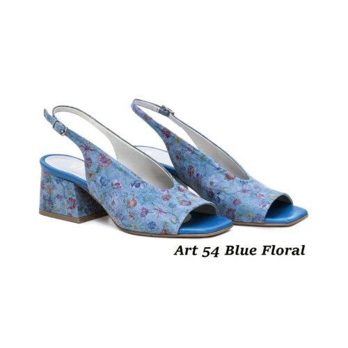 Women Shoes Art 54 Blue Floral