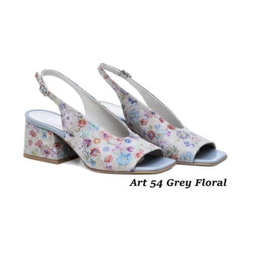 Women Shoes Art 54 Grey Floral
