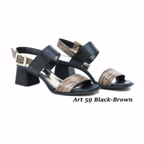 Women Shoes Art 59 Black-Brown