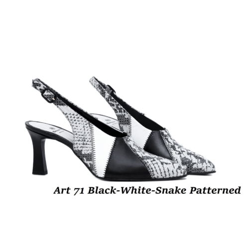 Women Shoes Art 71 Black-White-Snake Patterned
