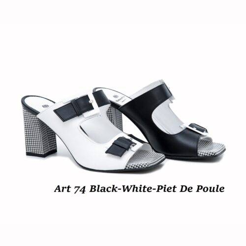 Women Shoes Art 74 Black-White-Piet De Poule