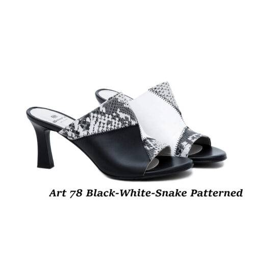 Women Shoes Art 78 Black-White-Snake Patterned