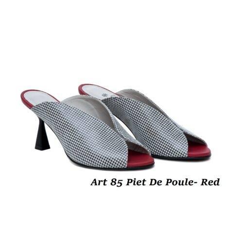 Women Shoes Art 85 Piet De Poule- Red