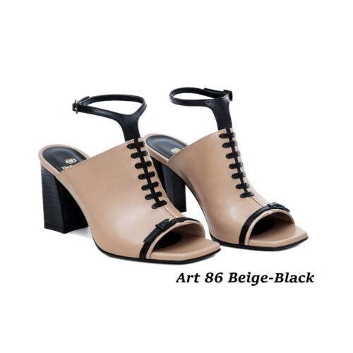 Women Shoes Art 86 Beige-Black